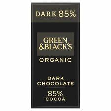 Nouvelle annonce 4 x 90 g Green & Black's Chocolat Noir 85% cacao   4 x 90 G   Free p&p