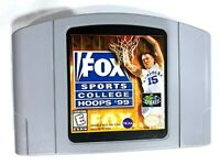 Fox Sports College Hoops 99 - Nintendo 64 N64 Game Tested + Working & Authentic!