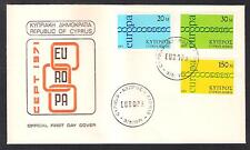 CYPRUS 1971 EUROPA CEPT CHAIN Set of 3v. OFFICIAL FDC