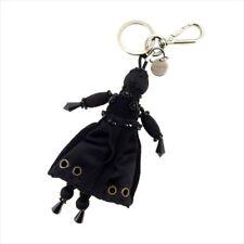 Prada key ring Key holder Black Orange Woman Authentic Used T8981