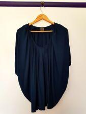 Calvin klein womens size XS dark royal blue batwing cape top