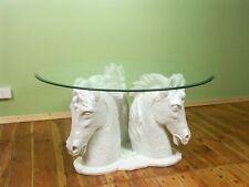 PFERD PFERDETISCH COUCHTISCH TISCH GLASTISCH PFERDEKOPF HORSE TABLE HORSE HEAD