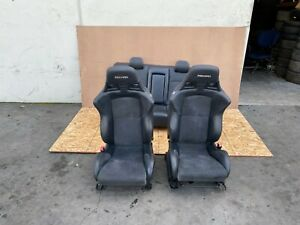 MITSUBISHI LANCER EVO 10 2008-2015 OEM FRONT AND REAR RECARO SEATS (SET). 99K