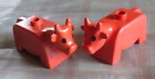 LEGO DUPLO FATTORIA MUCCA MUCCHE ANIMALI COW per Farm 10525 10617 4665 5649 66454