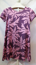 Leina'ala SMALL Vintage Pink & Purple Mini Floral Hawaiian Print Dress