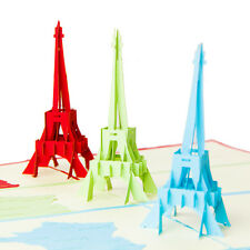 3D Pop Up Greeting Cards Eiffel Birthday Valentine Anniversary Xmas Thanks Gifts