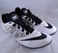 Nike Rival S Track Shoes Running Cleats Size 14 Black & White With Bag