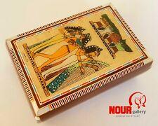 Unique Egyptian Handmade three pharaoh musicians Bone Inlaid Wood Jewelry box
