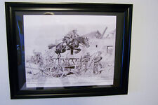 C F BAUER PRINT, SIGNED, MATTED AND FRAMED