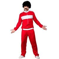 Men's 80'S Retro Trackie Fancy Dress Costume Shell suit Scouser 118 118 Stag Fun