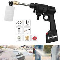Portable 24V Cordless Car Washer Hose High Pressure Watering Gun Nozzle Pump