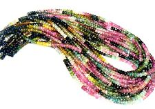 Beautiful Natural & Untreated Faceted Tourmaline, 4mm, 14-inch strand