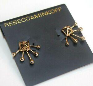 Rebecca Minkoff Earrings gold plated Ear jack Pyramid Bali women's