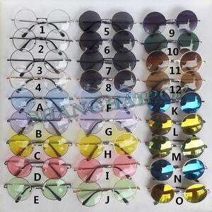 John Lennon Style ROUND SUNGLASSES Vintage Retro Mirror Glasses Sunnies Shades