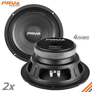 "2x PRV Audio 8MB450-4 V2 8"" Midbass Woofers 225W RMS 4 Ohms - PRV 8MB Speakers"