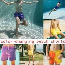 Men Color Changing Swim Trunks Swimming Shorts Beach Swim Short Bathing Shorts&