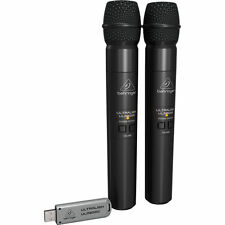 Behringer ULM202USB UltraLink Dual Wireless Mic Microphone 2.4 GHz 794504551310