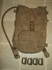 USMC ISSUE FILBE COYOTE HYDRATION CARRIER W/BLADDER USMC PACK CIF TURN-IN #1