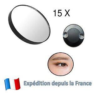 Miroir de maquillage Portable avec ventouse Miroir loupe X15