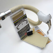 Velobitz Vintage Cream Leather Handlebar Cover Kit, Wax Thread & Needles