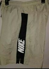 Vintage 90s NIKE Swim Trunks Shorts Mesh Lined Shorts Mens Black Tan Medium