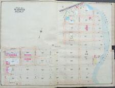 1904 GREENPOINT-  BUSHWICK BROOKLYN NEW YORK E. BELCHER HYDE ATLAS MAP 27X36