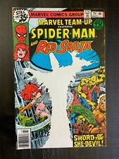 Marvel Team-Up #79 FN Bronze Age comic featuring Spider-Man and Red Sonja!