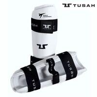 Tusah Taekwondo WT Approved Shin Pads Shin Guards White Adult Kids Unisex TKD