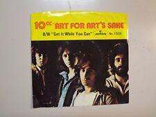 "10 C.C.: Art For Art's Sake 4:12-Same-U.S. 7"" 75 Mercury DJ Label 441 w/Rare PSL"