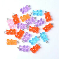 50Pcs Creative Cute Mini Gummy Bear pendant For Earrings Dangle Jewelry Making