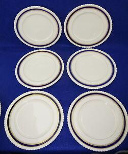 "Lenox Georgian Blue J476B (6) Dinner Plates, 10 1/2"""