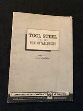 TOOL STEEL For The Non Metallurgist Metallurgy, Engineering Crucible Steel