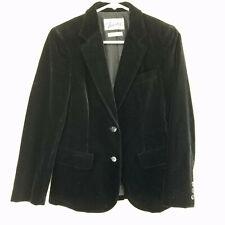 Vintage Townley 1960s Blazer Size 6 Velour Black Jacket Pockets