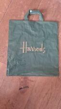 Harrods Green Carrier Shopping Bag medium