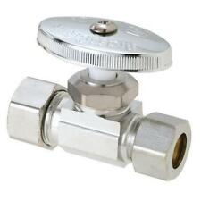 "Brasscraft 1/2"" Inlet x 1/2"" O.D. Compression Outlet Multi-Turn Straight Valve"