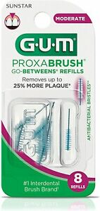 GUM Proxabrush Go-Betweens Interdental Brush Refills Moderate [612]  8 Count