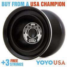 Duncan Wind Runner Metal Yo-Yo YoYo  - Black 9256SE-M + FREE STRINGS
