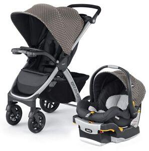 Chicco Bravo Trio Travel System Stroller w/ KeyFit 30 Infant Car Seat Calla NEW