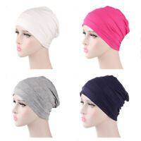 Womens Chemo Cap Sleep Turban Hat Liner for Hair Loss Cotton Headwear Head wrap