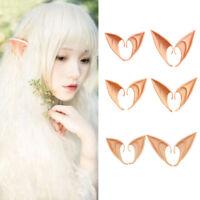 Adult Kid Halloween Costume Party Fairy Elf Pixie Hobbit Pointed Ears Tips PROP