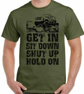 Defender Land Rover T-Shirt Off Roading Mens Funny 4X4 110 90 SVX 4x4