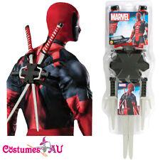 Licensed Deadpool Weapons Costume Accessories X-men Kit Marvel Katana Sais Sword