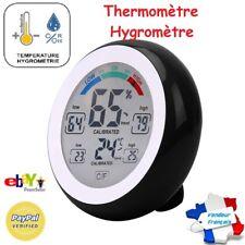 Thermomètre Hygromètre Horloge intérieur écran tactile Humidité Mémoire Aimanté