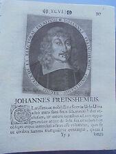 1673 Stich Theologe Johannes Freinsheim Freinshemius