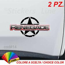 2 adesivi stella militare Jeep RENEGADE adesivo stella us army portiere cod#14