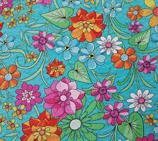Summer Garden Kate Knight BTY Quilting Treasures Bright Floral Pink Orange Teal