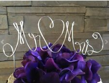 Custom Mr & Mrs Monogram Wedding cake topper