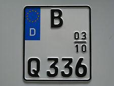 EU-Saison-Motorradkennzeichen, Motorradschild, Nummernschild, Wunschkennzeichen