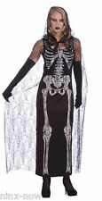 Graveyard Shift Ghoul Women's Day Of Dead Halloween Costume with CAPE fits 10-12
