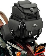 SADDLEMEN BR1800EX BACK SEAT / SISSY BAR BAG - HARLEY UNIV TOURING LUGGAGE PACK
